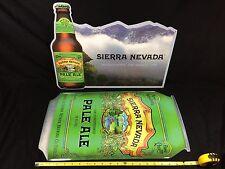 2 Sierra Nevada Beer Signs Tin Metal Tackers New! Bar Man Cave Pub