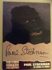 BRITISH HORROR COLLECTION - SERIES ONE: AUTOGRAPH CARD: PAUL STOCKMAN, PS3
