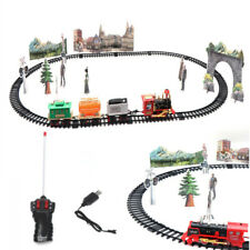 Rail King Classic Train Track Set Kids Fun Game Toy Battery Operated With Light