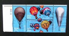 US-1983-Balloon set in Plate Block of 4-Used