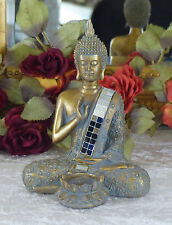 Buddha Skulptur Dekofigur Statue Buddhafigur Figur gold Teelichthalter Antik
