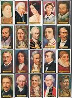 1937 J. Wix & Sons Builders of Empire Tobacco Cards Complete Set of 50