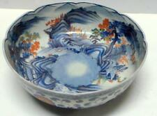 Large Chinese Porcelain Bowl  Multi Colored Painted Scenes 20th Century