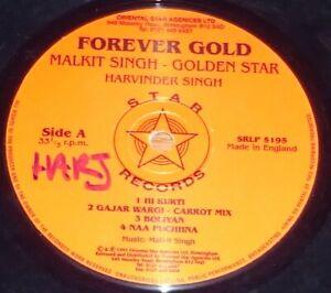 Malkit Singh Golden Star - Forever Gold-LP Vinyl Record Bhangra Punjabi Ravi Bal