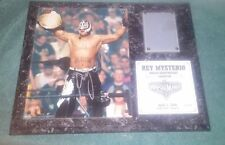 WWE WWF Wrestlemania 22 Rey Mysterio Signed Autograph Mat Plaque W/ Blood! #279
