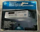 GE Spacemaker Undercabinet AM FM Radio with Light and Appliance Outlet 7-4232 photo