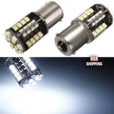 2x Canbus Error Free 1156 BA15S 382 White 44 SMD LED Turn Tail Signal Light Bulb
