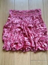 Gorgeous Next Young Girls Pink Crinkle velvet skirt. 7 years