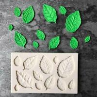 Fondant Silicone Mould Icing Cake Decor Chocolate Sugar Baking Leaves Mold QK