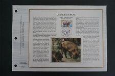 FRANCE CEF 1974 BISON WISENT ETB ERSTTAGSBLATT SAMMELBLATT DOCUMENT z1400