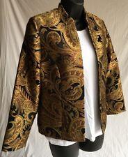 Jessica Howard Women's Mandarin Printed Jersey Jacket Petite 10P