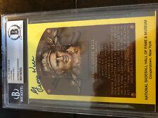 George Kell Autographed 1984 HOF Metallic Plaque Card Tigers Beckett SLABBED