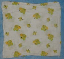 Bedtime Originals Yellow Green Bees Cotton Muslin Swaddle Blanket Lambs Ivy Baby
