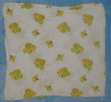 Bedtime Originals Yellow Green Bees Cotton Muslin Swaddle Blanket Lambs Ivy Baby