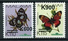 Malawi Butterflies Stamps 2020 MNH Butterfly OVPT Large Font Insects 2v Set