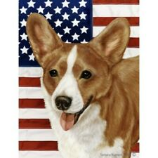 Patriotic (2) House Flag - Red and White Cardigan Welsh Corgi 32243
