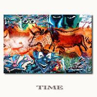 ☆TIME☆ auf Leinwand moderne abstrakte Kunst Bilder Wandbilder ART GALERIE