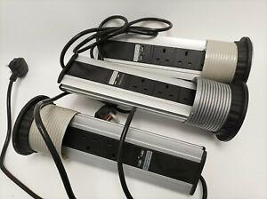 3 Way UK 2x USB Charge Pop-up Power Distribution PDU Office Workshop Kitchen