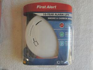 New First Alert Smoke & Carbon Monoxide Alarm 10 Year Battery Life