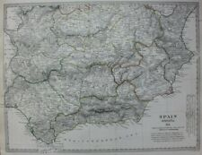Original antique map SPAIN, ANDALUCIA, SEVILLA, CORDOBA, TOLEDO, SDUK, 1831