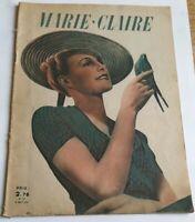 Marie Claire N° 211 du 9 août 1941 * Revue Mode Vintage * BE