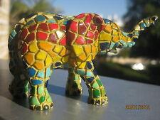 Exclusive collectiIble mosaic style elephant figurine israel souvenir decor