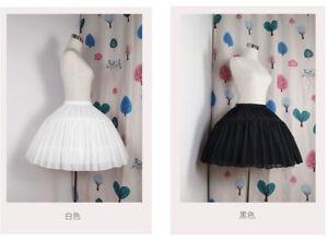 2 Hoop Girls Crinoline Hoop Bustle Skirt Pannier Petticoat For Dress Lolita