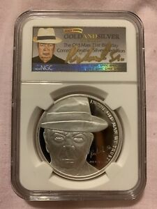 Pawn Stars The Old Man 71st Birthday 1 Oz .999 Silver Round Gold Signature NGC