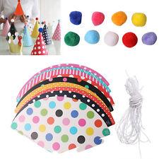 11pcs/set Paper Party Celebration Hats Birthday Hat Festive Party Crown For Kids