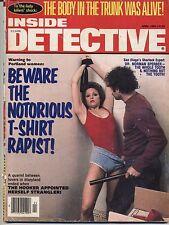 Inside Detective April 1984 Vintage Print Ads True Crime Magazines Police bound