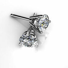Fine 14K White Gold Earring  0.50 ct Diamond Stud For Women Jewelry VVS1/D