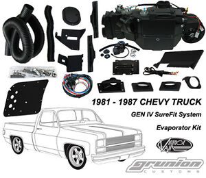 Vintage Air Chevy Truck w/ AC 1981 - 1987 Air Conditioning Evaporator Kit 754181