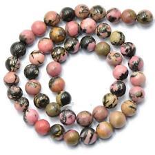 8mm Bijoux De Pierre Gemme Rhodonite Faisant Entretoise Perles Brin 15inch
