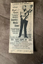 Early Country Music Giant Buck Owens Concert Advertisement