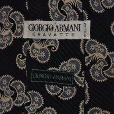 Bleu Gris Cachemire Armani Cravate en Soie 5c8c9b41c40