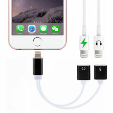 2in1 Lightning Audio Headphone Adapter Charger Splitter Cable Fr iPhone X 7 6 SE