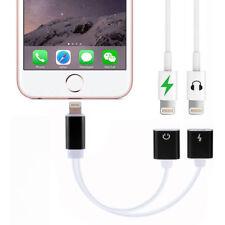 2in1 Lightning Audio Auriculares Adaptador Cargador Cable Divisor fr iPhone 7 6 SE X