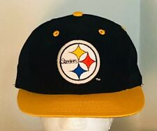 Vintage Retro Pittsburgh Steelers Hat Cap Logo 7 1980s Snapback Embroidered Euc