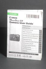 Canon PowerShot G9 Camera Instruction Book / Manual / User Guide