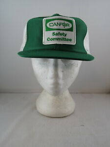Vintage Patched Logging Hat - Canfor Safety Committee - Adult Snapback