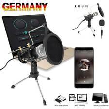Aufnahme Mikrofon für Handy und PC 3,5mm Klinke  Kondensator Mikrofone + Ständer