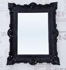 Wall Mirror Black Antique Baroque Repro Bathroom Vanity 56x46 9