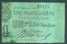 ARGENTINA ARGENTINE ( P S.441a ) 1-1-1864 BILLETS DE 1 PESO BUENOS AYRES