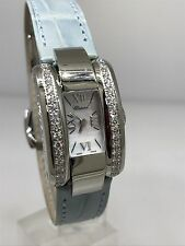 CHOPARD LA STRADA STAINLESS STEEL DIAMOND LADY'S LEATHER BAND WATCH 41/8445 NEW!
