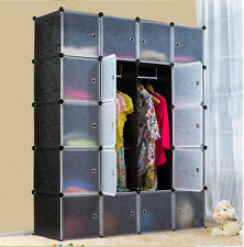 DIY 20 Gates 5 Tiers Extra Deep 184x147cm Big Interlocking Wardrode Storage Cube
