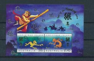 D120766 Year of the Monkey S/S MNH Christmas Island Australia