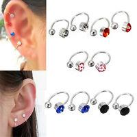 U Patttern Crystal Ear Cuff Earring Rhinestone Ear Wrap Clip No PiercinNYFK