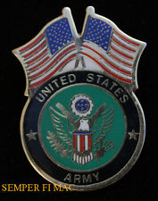 USA FLAG US ARMY SEAL LOGO EAGLE LAPEL HAT VEST PIN UP VETERAN GIFT TIE TAC WOW
