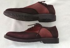 Bass Flex Shoes Brown Size 8M Mens Lace Up Bass Swank Leather Upper