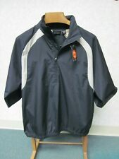 IZOD XFG Black & Tan Golf Windbreaker Jacket 1/2 Zip Short Sleeve, Men's M, NWT